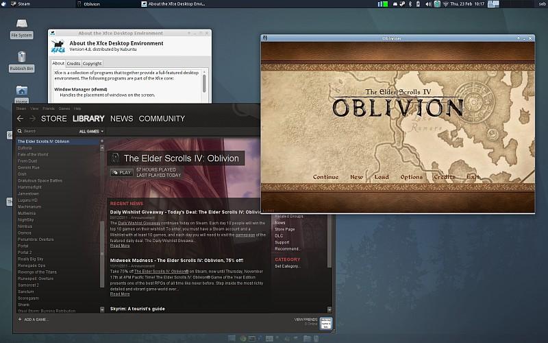 Steam and Oblivion under Linux (Ubuntu 11 10, Oneiric Ocelot