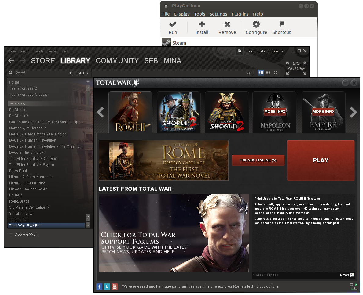 How to play Total War: Rome II on Linux (using PlayOnLinux